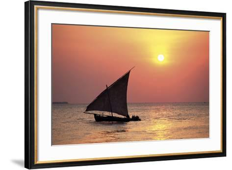 Dhow at Sunset-Lee Frost-Framed Art Print