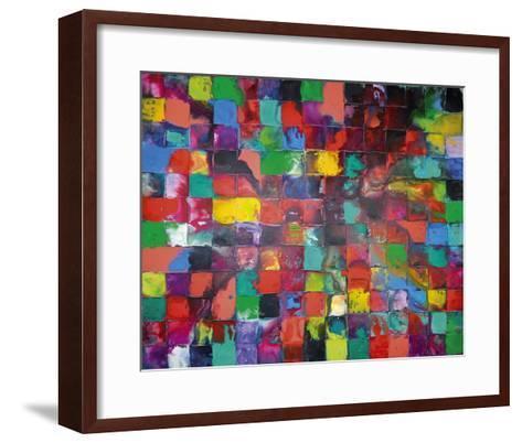 Majestic Mosaic-Caroline Ashwood-Framed Art Print