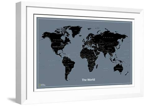 National Geographic Modern World Map--Framed Art Print