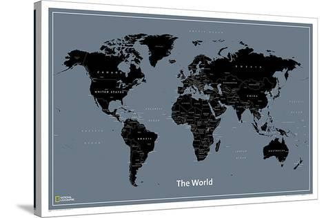 National Geographic Modern World Map--Stretched Canvas Print
