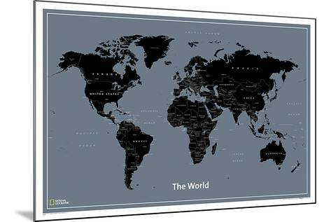 National Geographic Modern World Map--Mounted Poster