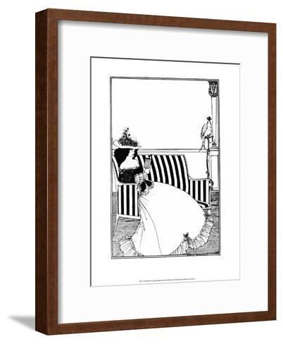 Reading Woman-Aubrey Beardsley-Framed Art Print