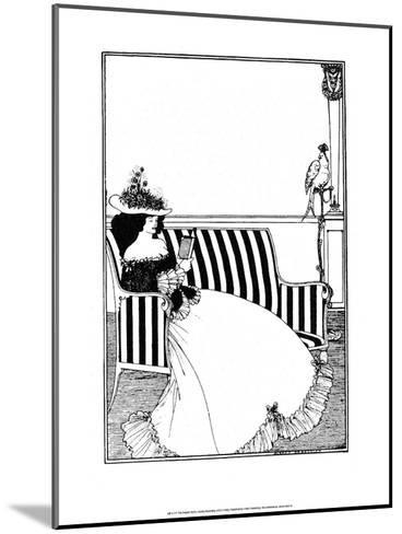 Reading Woman-Aubrey Beardsley-Mounted Art Print