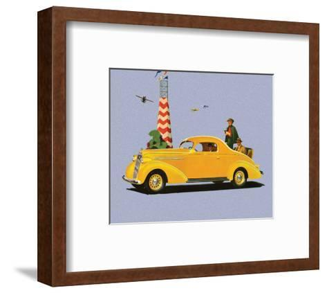 Studebaker Dictator, Vintage Car Advertising--Framed Art Print