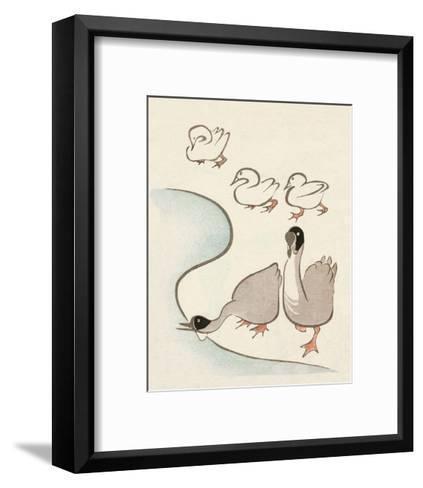 Japanese Drawing of Ducks and Geese-Kitao Masayoshi-Framed Art Print