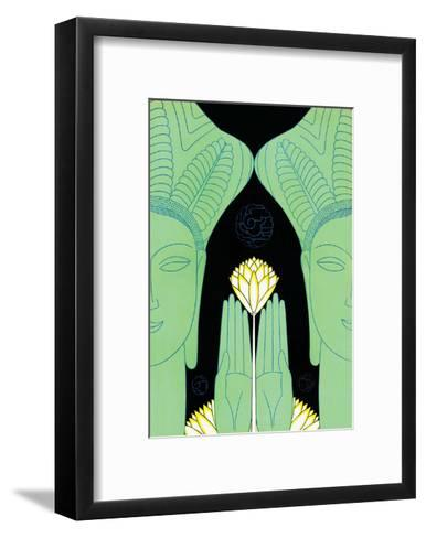 Lotus Goddess Hands-Frank Mcintosh-Framed Art Print