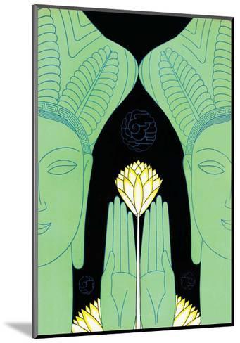 Lotus Goddess Hands-Frank Mcintosh-Mounted Art Print