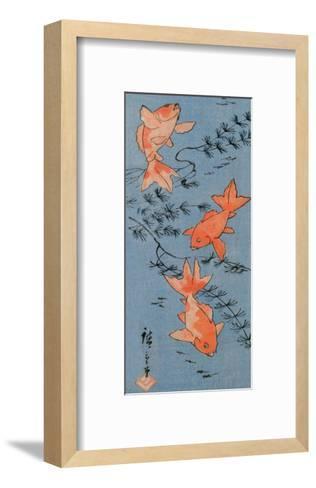 Goldfishes, 1843-Utagawa Hiroshige-Framed Art Print