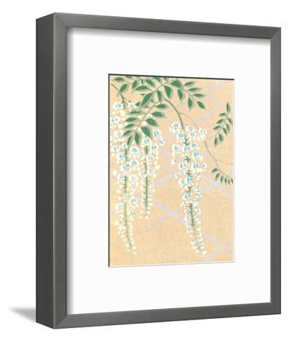 Japanese Textile Woodblock, Wisteria--Framed Art Print