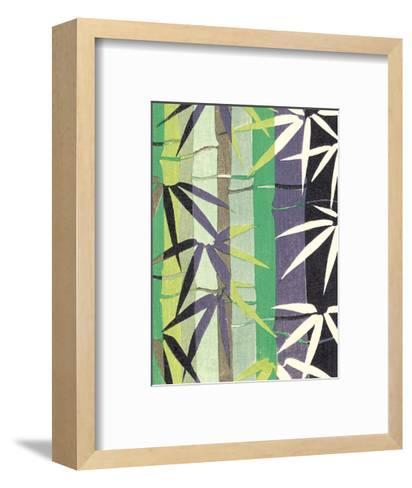Japanese Textile Woodblock, Bamboo--Framed Art Print
