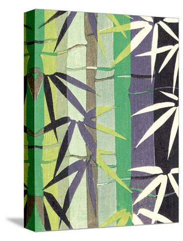 Japanese Textile Woodblock, Bamboo--Stretched Canvas Print