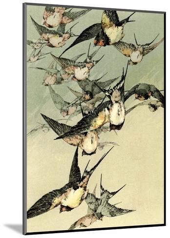 Art Nouveau Flight of Birds, Plate 5-Jules-Auguste Habert-Dys-Mounted Art Print