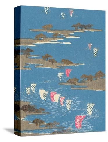 Japanese Textile Woodblock, Boat Sails--Stretched Canvas Print