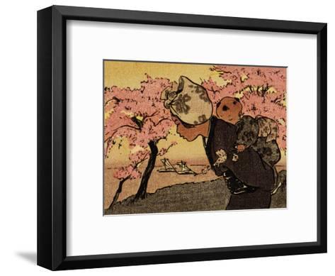 Mother Carrying Baby, An April Evening, 1910-Helen Hyde-Framed Art Print