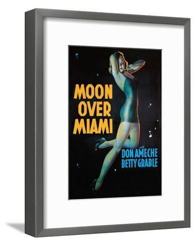 Moon Over Miami - Vintage Movie Poster--Framed Art Print