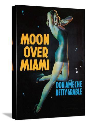Moon Over Miami - Vintage Movie Poster--Stretched Canvas Print