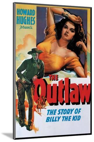 Vintage Movie Poster - The Outlaw--Mounted Art Print