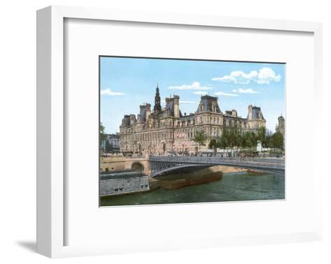 Vintage Paris Postcard - Le Pont Alexandre III--Framed Art Print