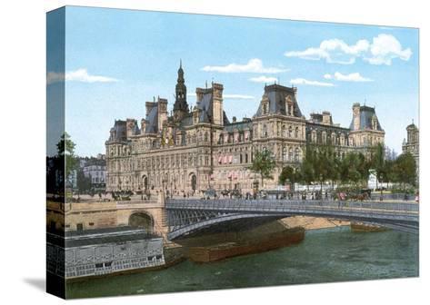 Vintage Paris Postcard - Le Pont Alexandre III--Stretched Canvas Print