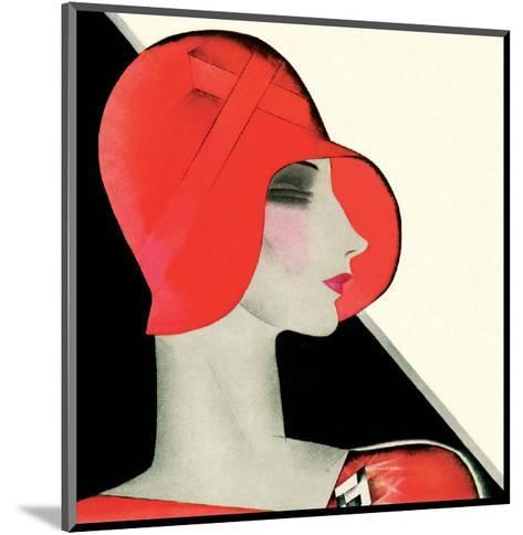 Art Deco Woman with Red Hat-Helen Dryden-Mounted Art Print