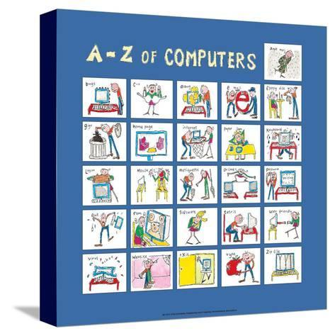 A - Z of Computers-Nicola Streeten-Stretched Canvas Print