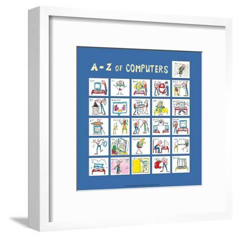 A - Z of Computers-Nicola Streeten-Framed Art Print