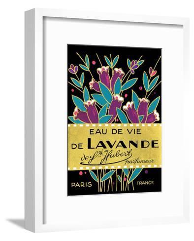 Vintage Art Deco Label, Eau de Vie de Lavande--Framed Art Print