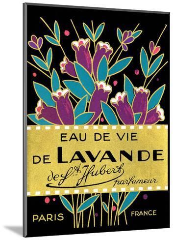 Vintage Art Deco Label, Eau de Vie de Lavande--Mounted Art Print
