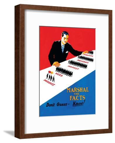 Vintage Business Don't Guess- Know!--Framed Art Print