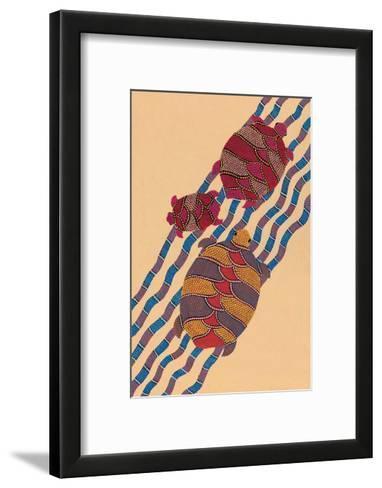 India Folk Art, Turtles--Framed Art Print