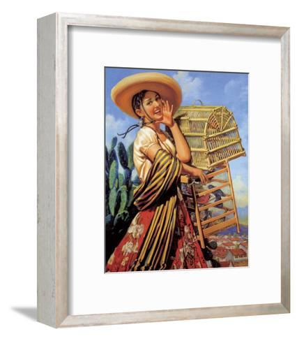 Retro Mexican Poster,--Framed Art Print