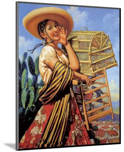 Retro Mexican Poster,--Mounted Art Print