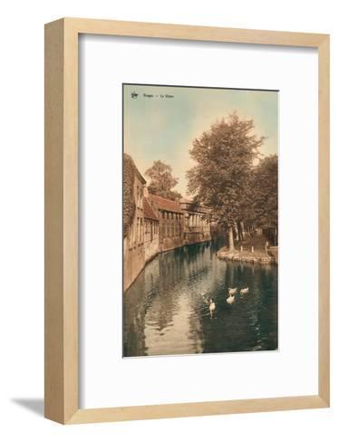 Vintage Postcard, Le Dijver, Bruges--Framed Art Print