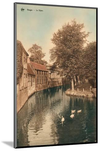 Vintage Postcard, Le Dijver, Bruges--Mounted Art Print