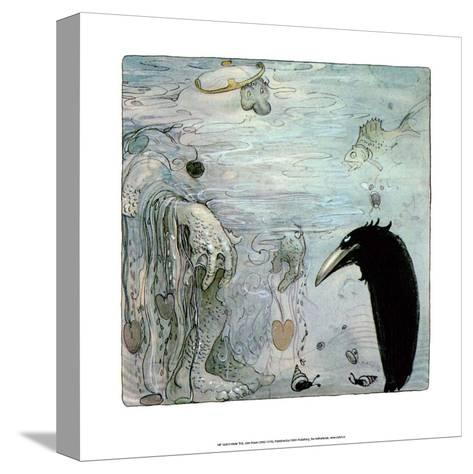Water Troll-John Bauer-Stretched Canvas Print