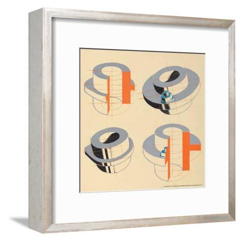 Technical Drawing, 1930s--Framed Art Print
