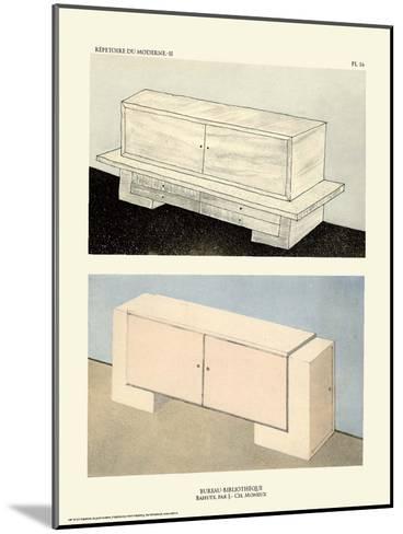 Art Deco French Interior Design Illustrations--Mounted Art Print