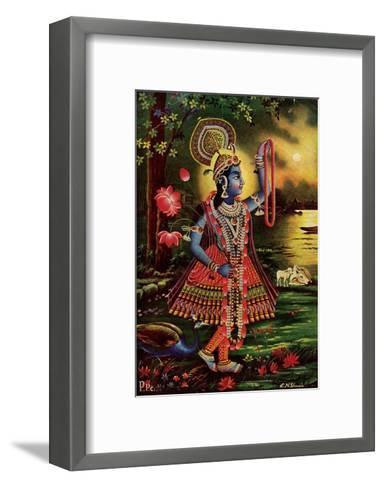 Vintage Indian Bazaar--Framed Art Print