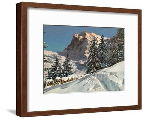 Wetterhorn Mountain, Switzerland, 1949--Framed Art Print