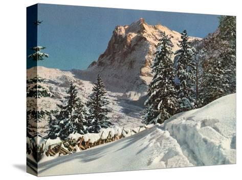 Wetterhorn Mountain, Switzerland, 1949--Stretched Canvas Print