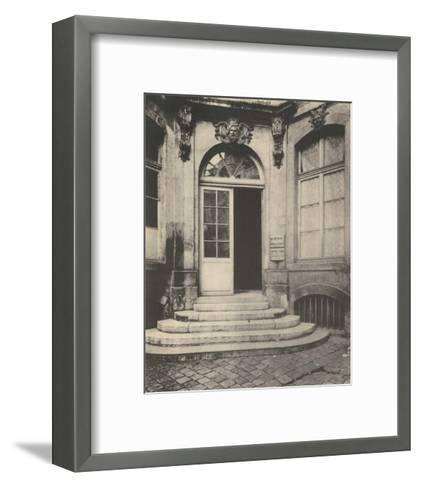 Paris Courtyard Doorway-Eugene Atget-Framed Art Print