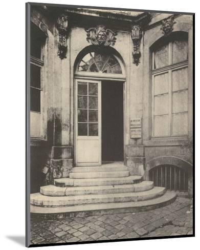 Paris Courtyard Doorway-Eugene Atget-Mounted Art Print