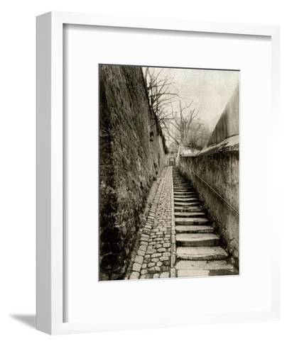 Rue des Eaux, Paris, 1901-Eugene Atget-Framed Art Print