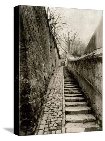 Rue des Eaux, Paris, 1901-Eugene Atget-Stretched Canvas Print