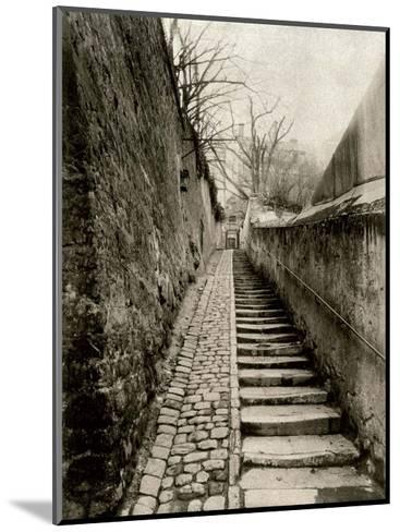 Rue des Eaux, Paris, 1901-Eugene Atget-Mounted Art Print