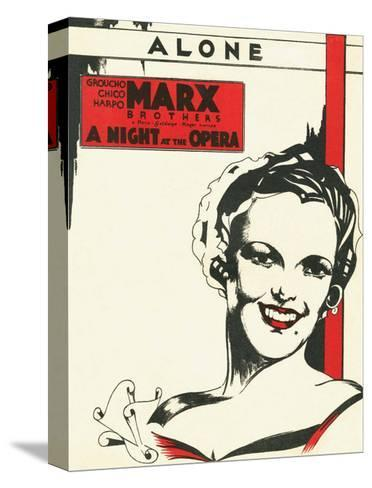 Vintage Music Sheet, A Night at the Opera, Marx Brothers--Stretched Canvas Print