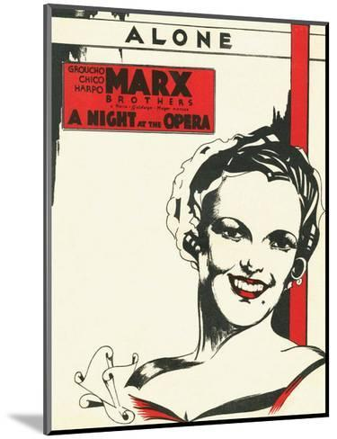 Vintage Music Sheet, A Night at the Opera, Marx Brothers--Mounted Art Print