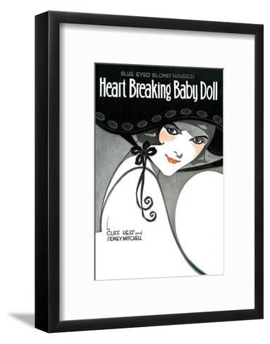 Vintage Music Sheet, Heart Breaking Baby Doll--Framed Art Print