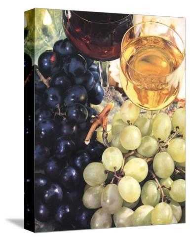 Wine & Grapes--Stretched Canvas Print
