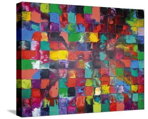 Majestic Mosaic-Caroline Ashwood-Stretched Canvas Print